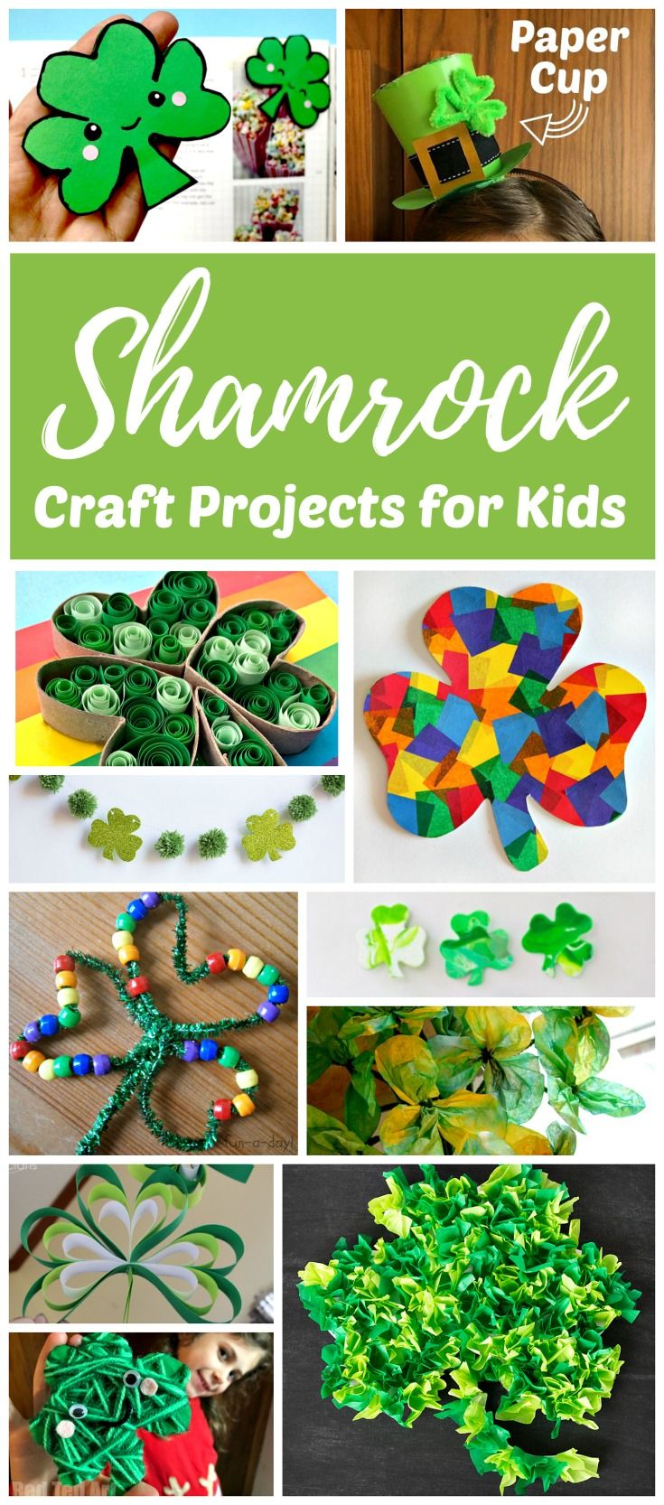 Shamrock And Four Leaf Clover Art And Craft Projects Blessed St