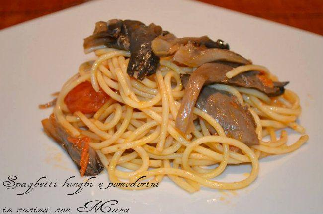 Spaghetti funghi e pomodorini