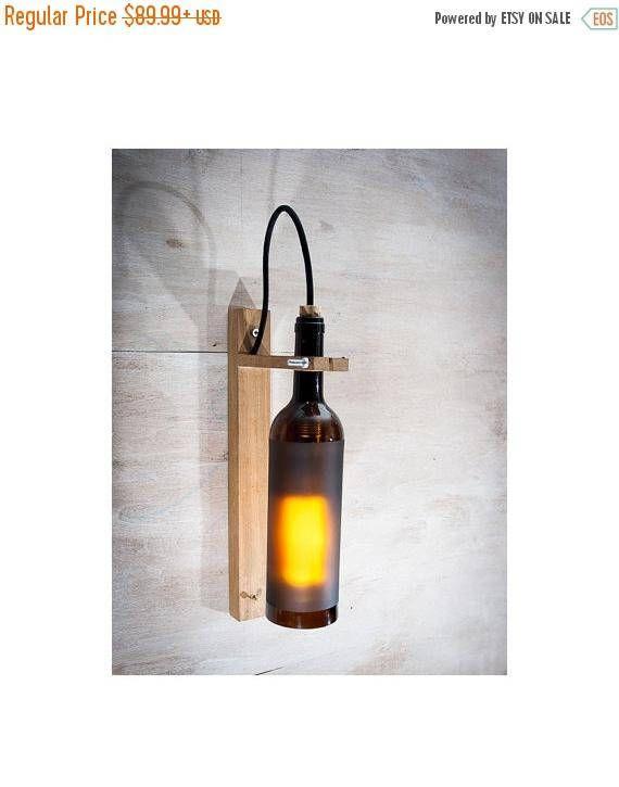 Mur de bouteille bois lampe Brown lampe en bois lampe