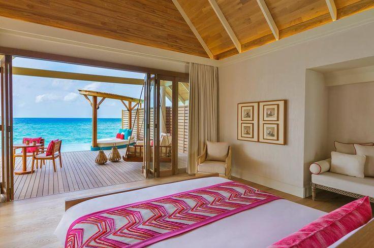 Views from your villa bed: designed for sweet sleep and happy day dreams . . . . #milaidhoo #maldives #private #luxury #island #resort #slh #dream #instahappy #pool #sun #happy #wanderlust #bucketlist #holidaygoals #ocean #blue #luxurytravel #instatravel #jetset #visitmaldives #smallluxuryhotels #potd
