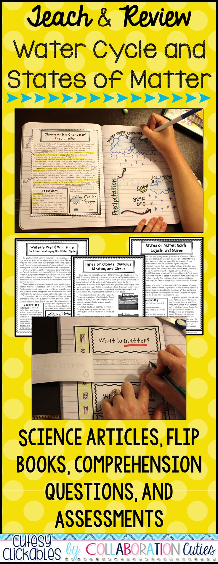 114 best science notebooks images on pinterest school teaching do you teach about the water cycle and the states of matter these nonfiction gamestrikefo Choice Image