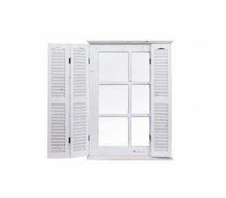 Espejo de pared forma de ventana con porticones | Artículo | Tienda de decoracion online , muebles y objetos de diseño vintage, Bellos Signos