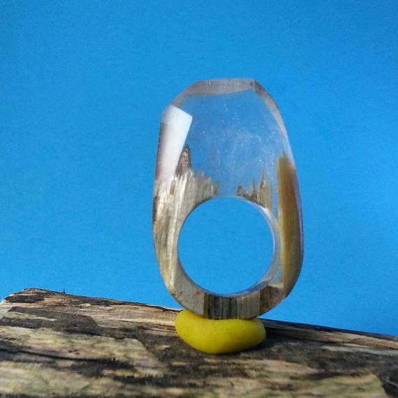 Ring Wood and Resin  Etsy listing at https://www.etsy.com/listing/516080516/ring-rings-wood-and-resin-ring-secret