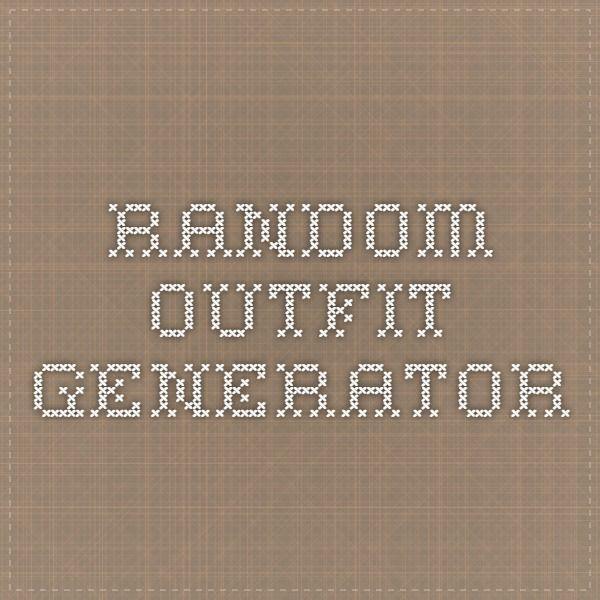 Random Outfit Generator