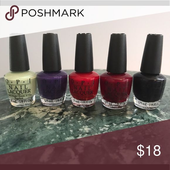Price drop! 🎉 NWOT- OPI Gift Set 💅🏻 Brand new gift set in bold colors! Includes shamrock (perfect for st patty's day!), two shades of red, and two shades of purple. High quality long-lasting nail color! OPI Makeup