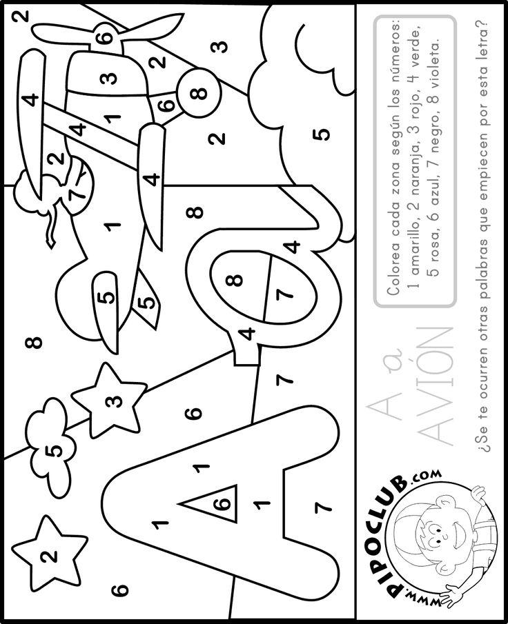Mejores 152 im genes de abc para colorear en pinterest - Letras decorativas para ninos ...