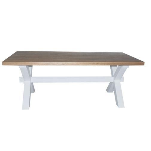 Rustikt bord för den prismedvetna. Vigo finns i paketpris ihop med stolar, besök din butik för mera ...