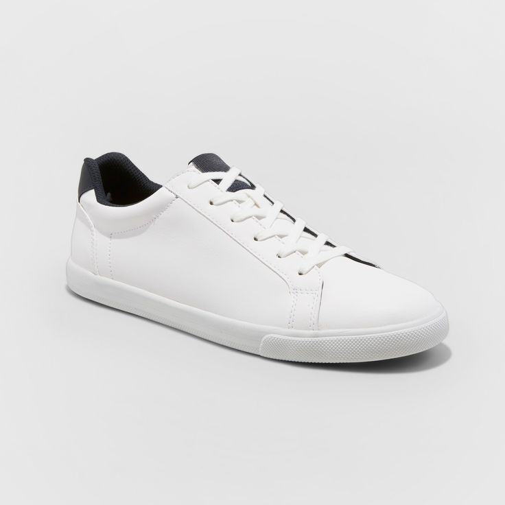 Men's Jared Lo Pro Tennis Shoe - Goodfellow & Co White 10.5