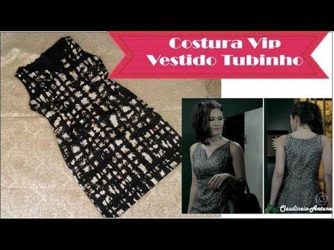 Costura Vestido Tubinho Carmem Novela Império #VEDA23 - YouTube