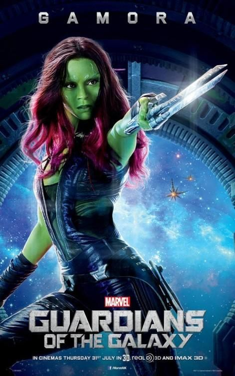 New character posters from Guardians of the Galaxy have been released of Bradley Cooper as Rocket Raccoon, Vin Diesel as Groot and Zoe Saldana as Gamora. Marvel Avengers, Ms Marvel, Gamora Marvel, Marvel Dc Comics, Marvel Heroes, Poster Marvel, Disney Marvel, Dc Movies, Marvel Movies