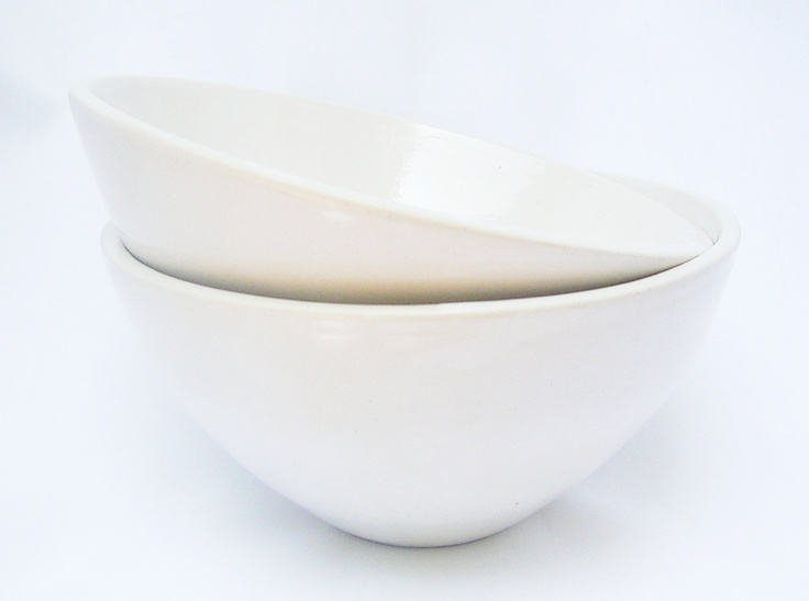 Antique White Bowls  Two beautiful porcelain bowls to delight and enchant you every time you look at them, as functional as they are pretty. Silky to touch, they are durable and resilient, and ideal for salt crystals, cracked black pepper, ground salt and pepper, and also the vast array of herbs and spices you need close at hand when whipping up tantalizing and exotic dishes. They are also, last but certainly not least, perfect for a romantic chocolate mousse for 2.