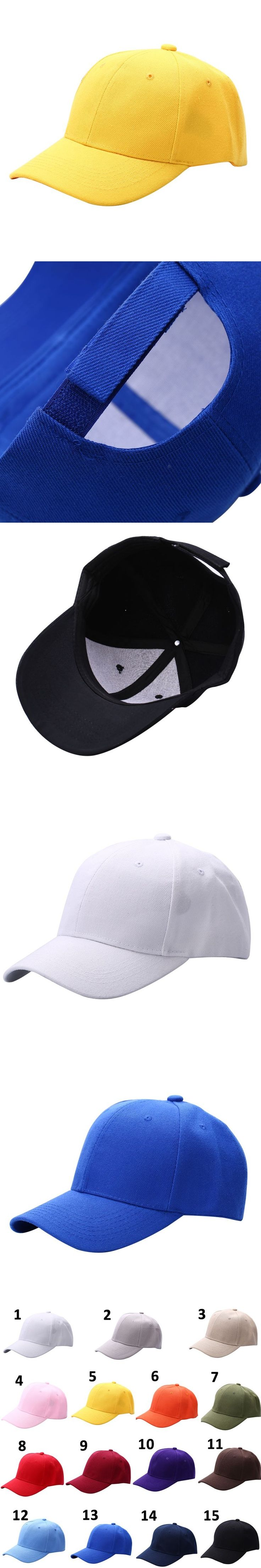 Plain Baseball Cap Unisex Curved Visor Hat Hip-Hop Adjustable Peaked Hat Visor Caps Solid Color For Men and Women