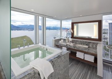 Fairmont Pacific Rim - contemporary - Bathroom - Vancouver - Claudia Leccacorvi