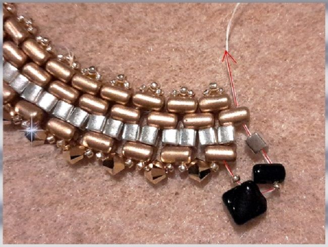 collar-oro-negro-perla de vidrio-rullas-tops-sedoso-bead-espíritu-10