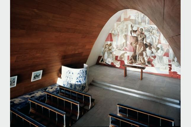 IGLESIA DE SAN FRANCISCO DE ASÍS. Conjunto arquitectónico en Pampulha, Belo Horizonte, Minas Gerais, Brasil, 1940. Oscar Niemeyer