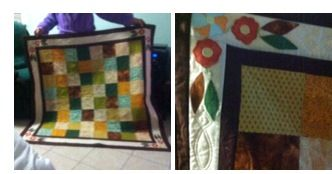 My Grandma made this quilt. It's amazing. She is learning patchwork and I think that she a lot better then she thinks.
