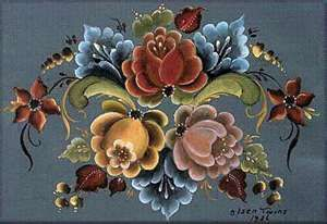 I love this beautiful craft of rosemalling