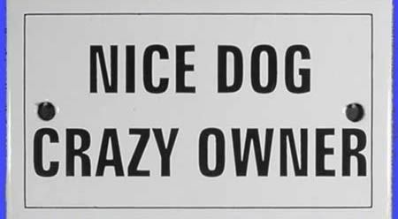 12 Hilarious Dog Signs (dog signs) - ODDEE