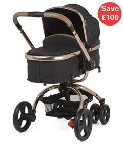 View details of Mothercare Orb Pram and Pushchair - Liquorice Canvas