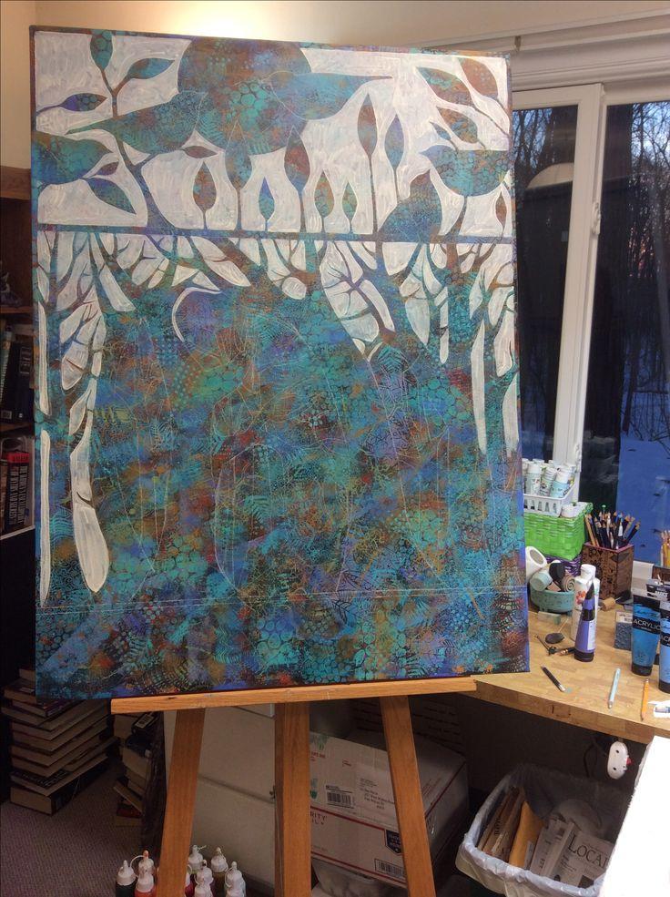 Painting in progress. Sue Davis