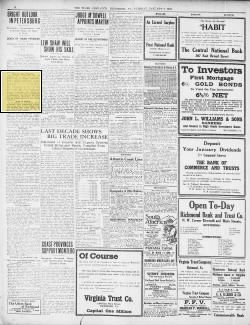 Page context of clipping  The Times Dispatch, page 08, Jan 02, 1912, obit,  Schnurman and Jackson,   Richmond Va.