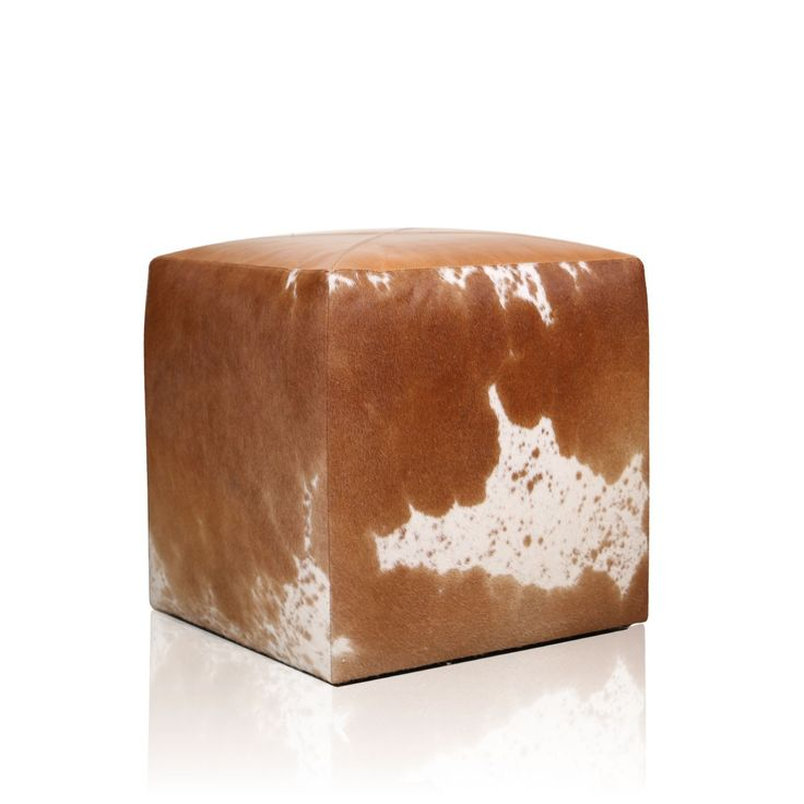 Brawn Leather Pouffe - Up your style quotient with this artistically designed Brawn Pouffe to win heaps of admirable glances from the onlookers. Designed with an inspiration from the white cow patterns, this striking pouffe offers both style and comfort. #INVHome #LuxuryHomeDecor #InteriorDesign #RoomDecor #Decorations #Decor #INVHomeLinen #Tableware #Spa #Gifts #Furniture #LuxuryHomes #Furniture #Stools