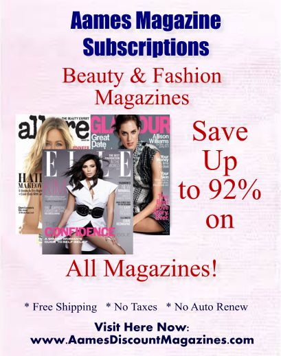 The Beauty Pirate: Discount magazine Subsriptions From Aames