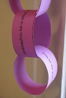 Lenten Prayer Chain. Tear off the day's prayer focus and pray throughout the day.