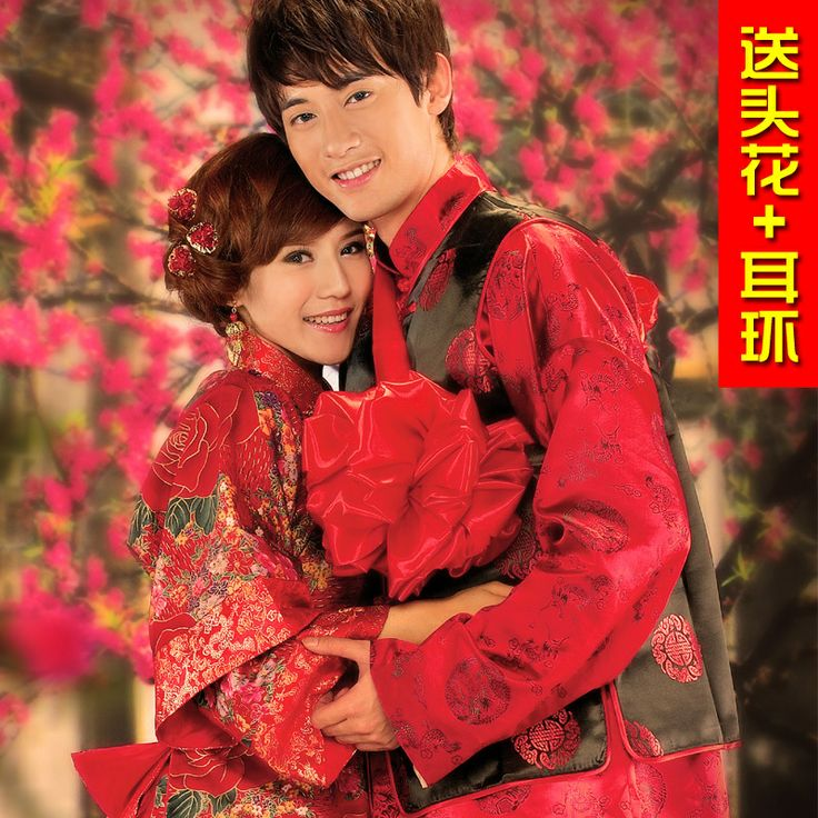 Wedding Dress Show The Bride Cheongsam Suit Pratensis Male Tang Chinese Vintage Style
