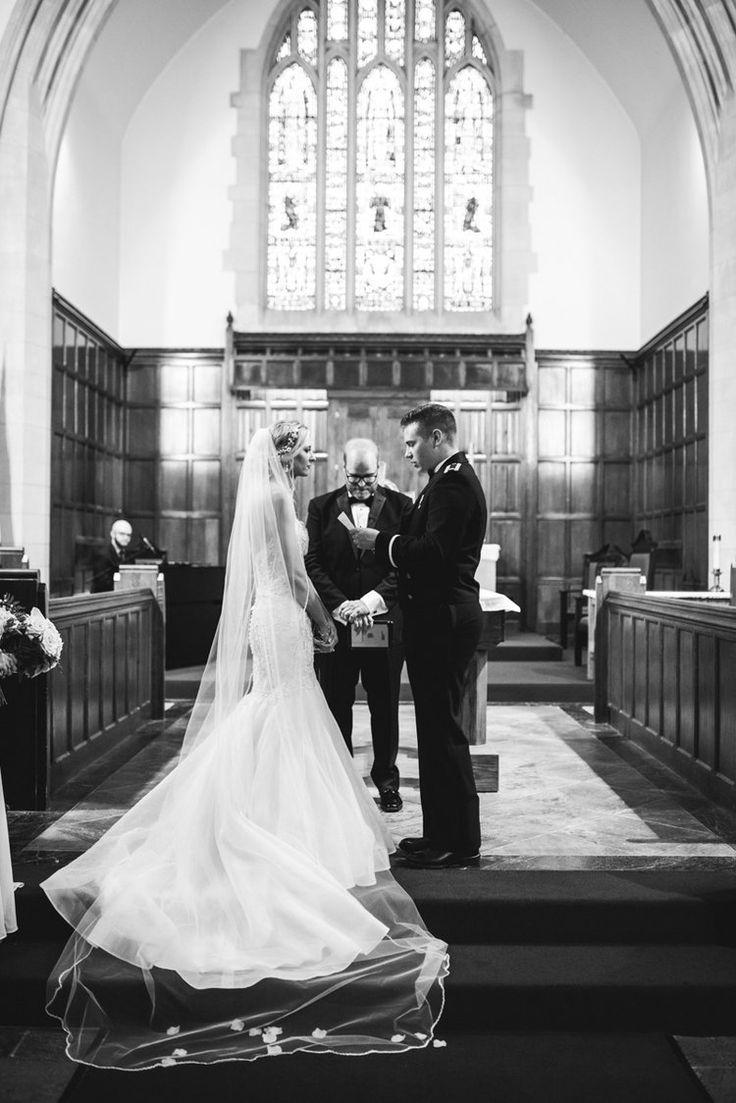 Langley Air Force Base Military Wedding Indoor wedding