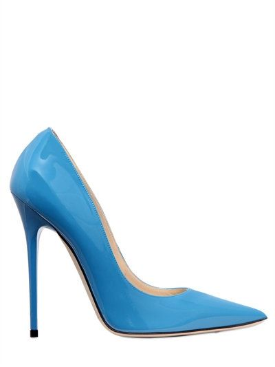 JIMMY CHOO 120MM ANOUK PATENT LEATHER PUMPS