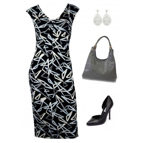 Brannon Abstract Career Dress