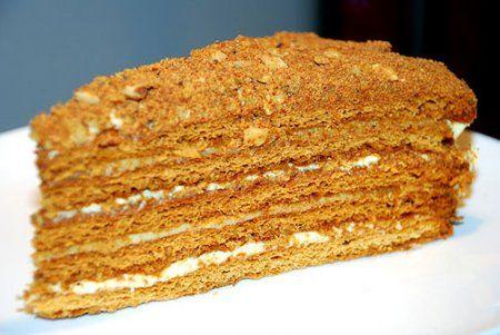 Медовый торт «Минутка» на сковороде