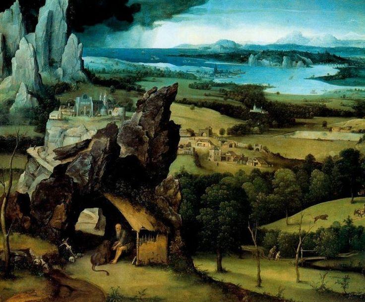 Joachim Patinir, paisaje con San Jeronimo(1515), Bélgica