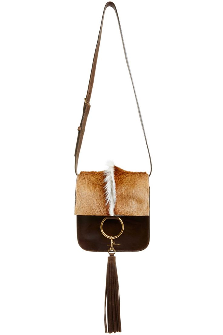 Palma Springbok \u0026amp; Leather Crossbody Bag