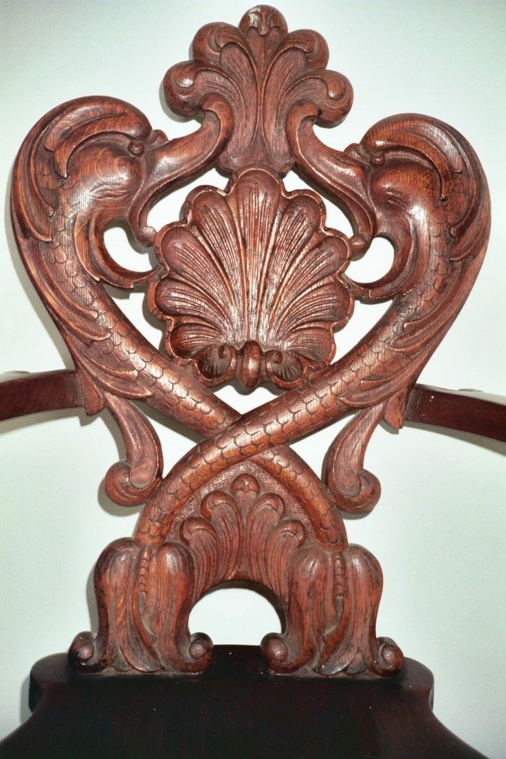 beautiful antique carved oak chair ebay