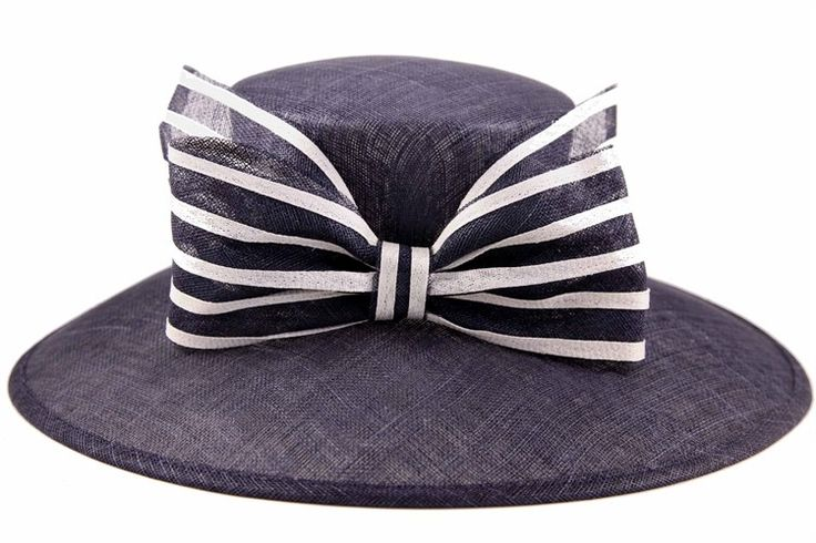 Navy & Silver larged brimmed hat