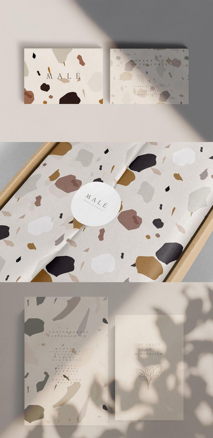 Abstract Modern Terrazzo Pattern by Laras Wonderla…