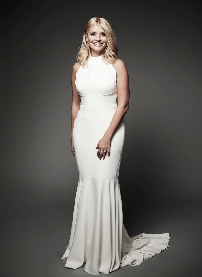 Holly Willoughby in dazzling white gown
