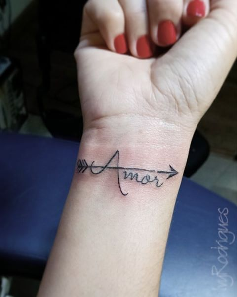 Pin for Later: 11 Love Tattoos in Spanish You're Going to Want to Get Amor Translation: love