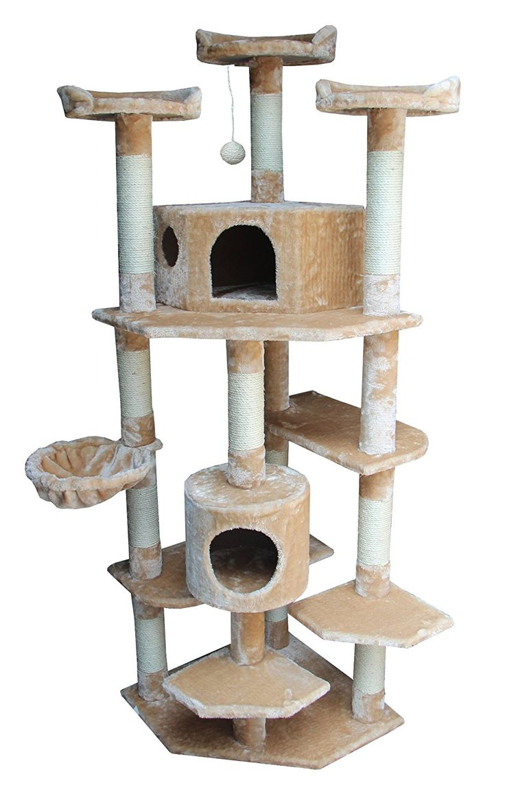 Kitty Mansions Denver Cat Tree, Beige : Cats Tree