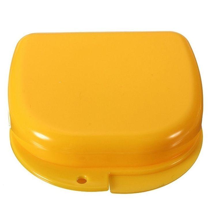 รีวิวมาตรฐานu003cSPu003eHKS Dental Health Dentures Orthodontic Retainer  MouthguardsStorageBox Case (Yellow)   Intl++HKS Dental Health Dentures  Orthodontic Retainer ...