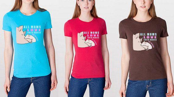 All Moms Love Their Babies Vegans Shirt - vegan ladies shirt, vegan shirt, vegan clothing, pig shirt