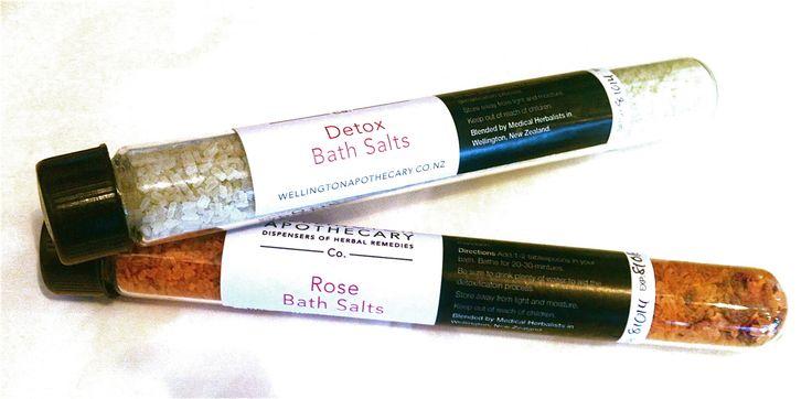 Test Tube Clay Bath Salts from the Wellington Apothecary.