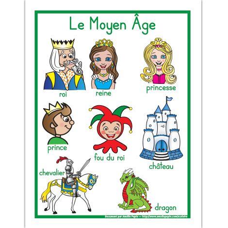 Affiche, le Moyen Âge