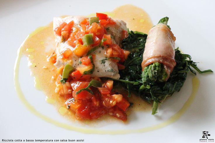 Ricciola cotta a bassa temperatura con salsa buon assisi - Spirito Mediterraneo Modica