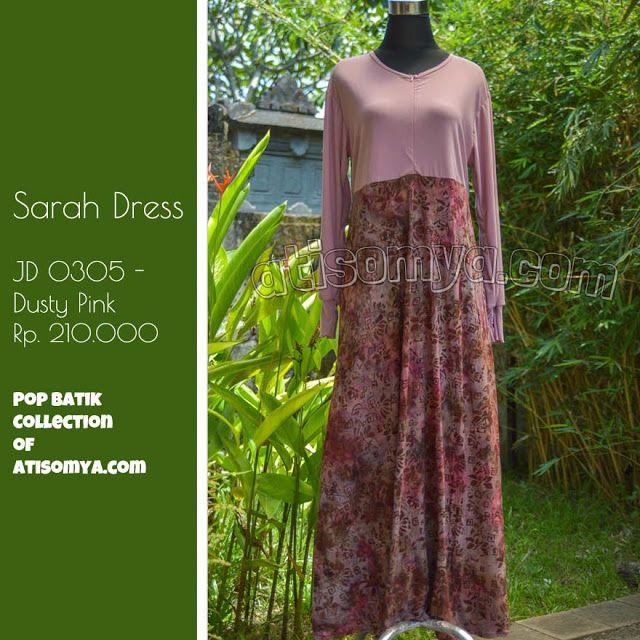 Gamis syari elegan bahan rayon jersey batik