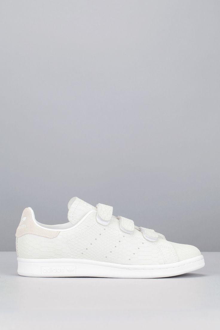 Sneakers cuir blanc reptile scratch Stan Smith CF W