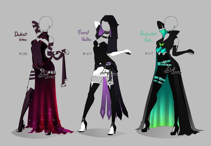 Outfit design - 299 - 301 - open by LotusLumino