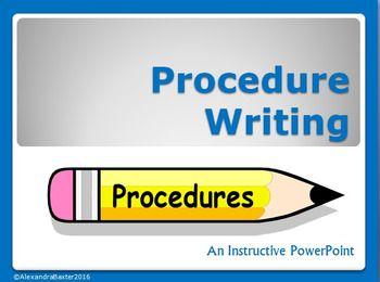 Procedure Writing PowerPoint by Terrific Teaching Tactics   Teachers Pay Teachers